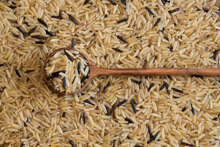 Brown and wild rice is considered to be high in fibre and a healthier alternative to regular commercial white rice.