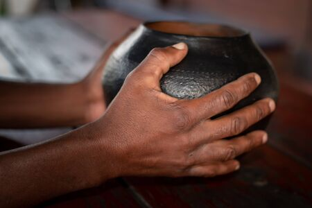 African beer, referred to as utshwala in Zulu, is brewed from mealie meal and drunk out of a clay drinking vessel called an ukhamba.