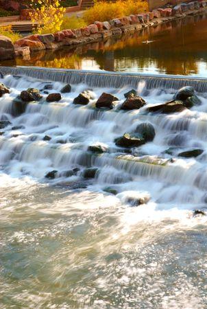 denver co: A little water fall in Denver CO.
