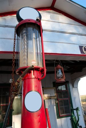 Old gas station gas pump.