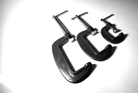 c clamp: Evolution of the C clamp. Stock Photo