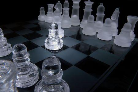 battling: Pawns battling Stock Photo