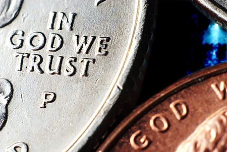 In God we trust on coin