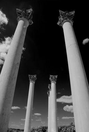 towering: Towering pillars Stock Photo