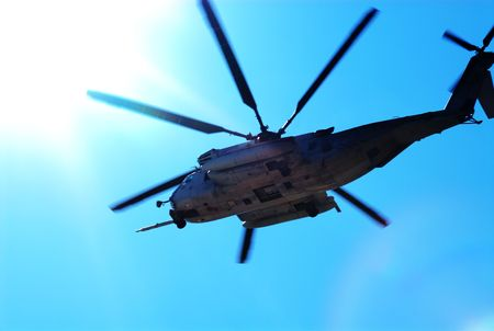 heli: Marine helicopter in training