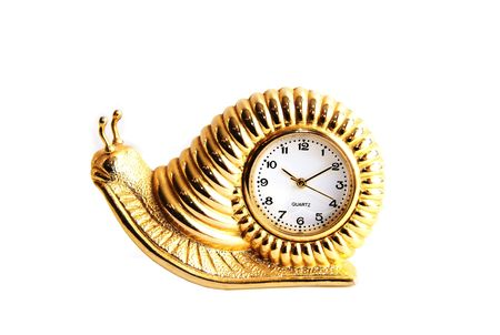 Golden snail clock