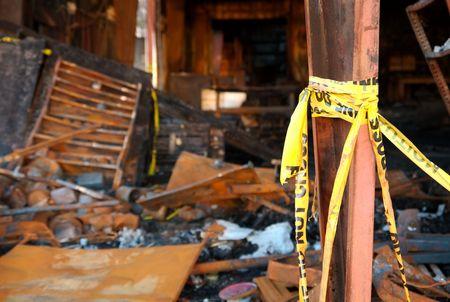 environment damage: Warehouse fire