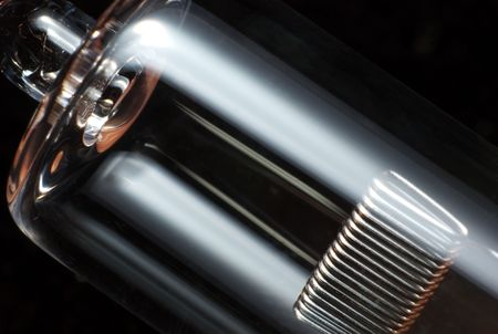 Light bulb on black Stock Photo - 2681076