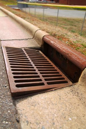 drain water: Gutter storm drain