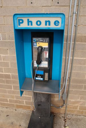 pay wall: Old payphone