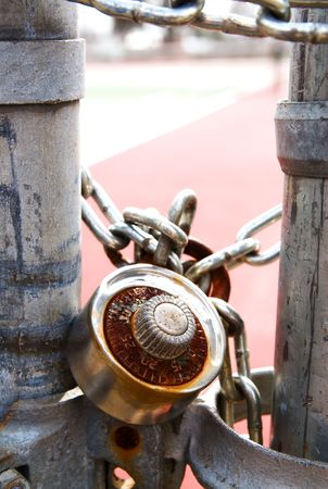 combination lock on door photo