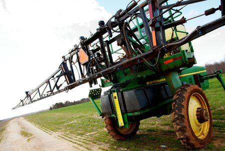 tire tread: Farmers Tractor in open field