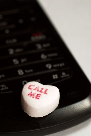 A candy that says call me on a cell phone photo