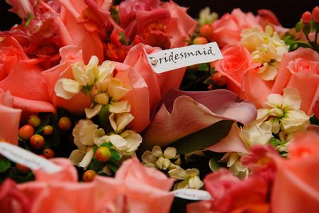 Bridesmaids flowers Stock Photo - 2664620