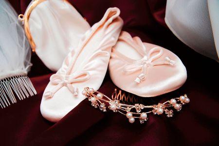 Brides shoes Reklamní fotografie - 2659043