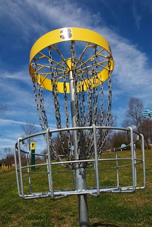 The third hole of a disc frisbee golf course. Stock Photo - 2737300