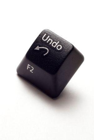 modificar: Un bot�n deshacer de teclado de computadora.