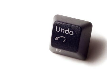 wijzigen: Een undo-knop van de computer toetsenbord.