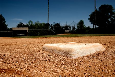 A baseball bag base on little league infield