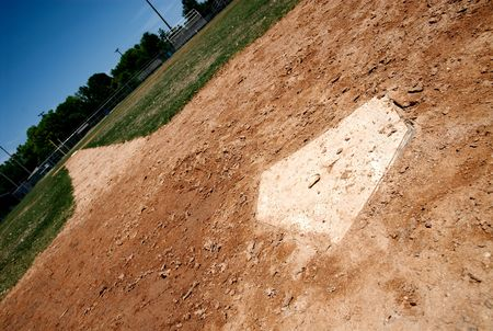 home plate on baseball field