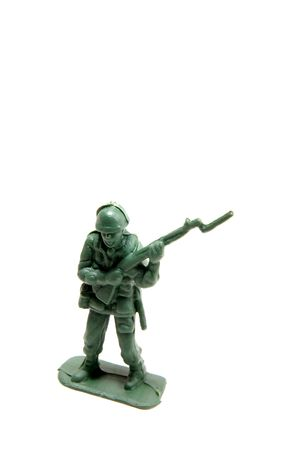 green army man with rifle and bayonet Stock Photo - 2958142
