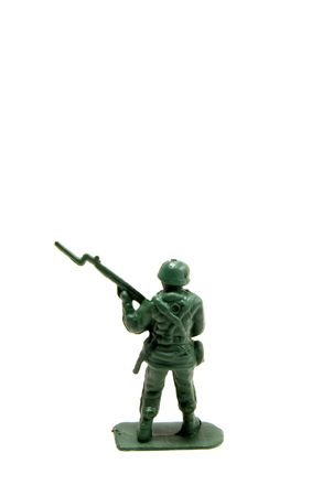 baionetta: verde esercito uomo con fucile e baionetta