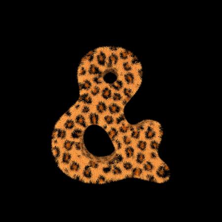Illustration 3D Rendering Creative Illustration Leopard Print Furry Symbol & Stock fotó