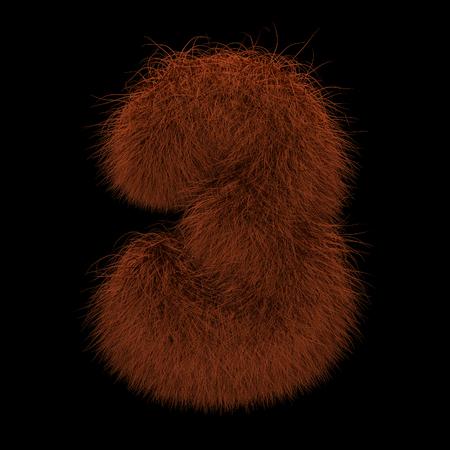 Illustration 3D Rendering Creative Illustration Ginger Orangutan Furry Number 3