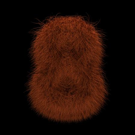 Illustration 3D Rendering Creative Illustration Ginger Orangutan Furry Number 8