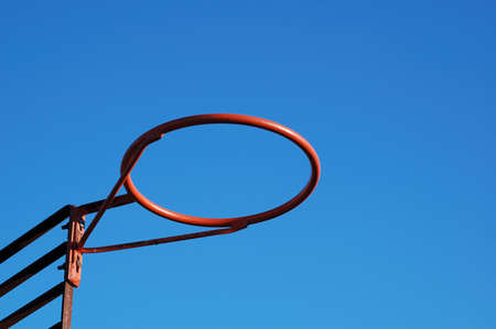 A Red Basket without the net and the board photo