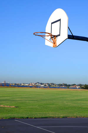Outdoor basketball court -  in the park Stock Photo