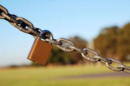 lock linking the chain in the park