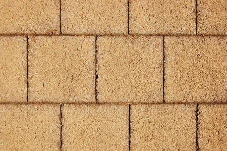 Tiled rocky brick floor