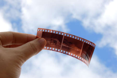 A Film holding with hand