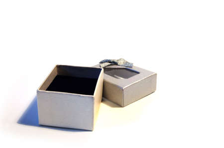 an isolated empty gift box Stock Photo