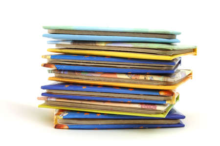 a stack of story book