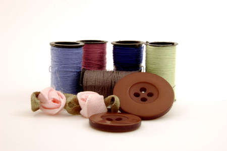 Collection of threads and button Stock Photo - 373798