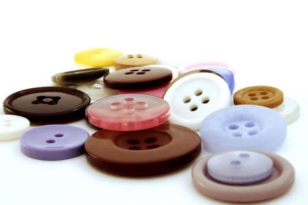 Collection of colorful buttons - isolated background Stock Photo