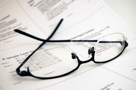 Glasses on universitys lecture notes