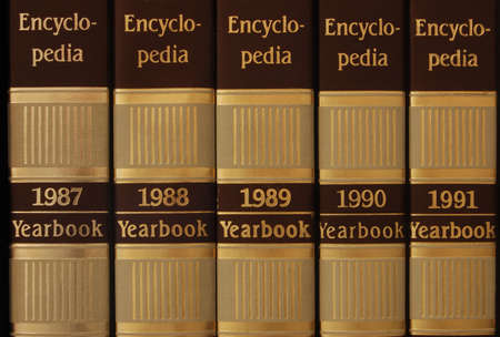 Series of encyclopedia from 1987 to 1991 photo