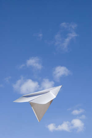 A Paper airplane keep flying ahead to the higher success -Contain the clipping path for the paperplane to let you select on the plane itself and cutcopy it to your design