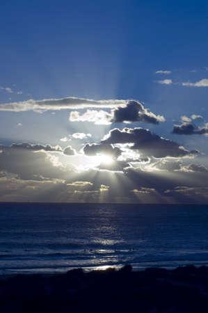 Sunset on the beach at Subiaco Beach , Perth