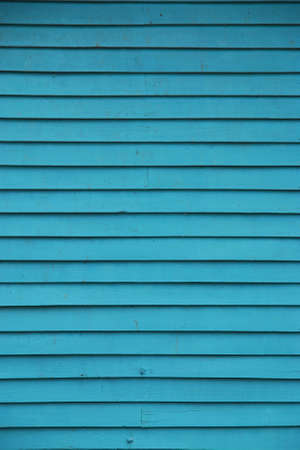 Blue Wooden Wall - Background Stock Photo