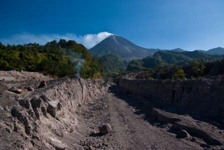 aftermath: Aftermath  Mount Merapi eruption Stock Photo