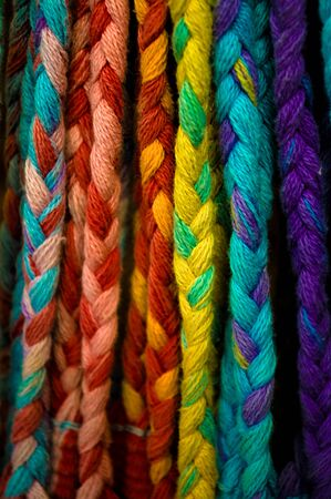 Close up of a colorful thread tissue