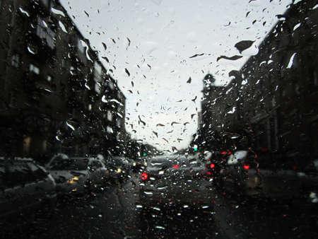 manin: rain on glass Stock Photo