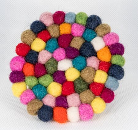 Colorful handmade coasters 스톡 콘텐츠