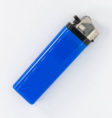 Blue cigarette lighter to light cigarettes or quit tuxedo Stok Fotoğraf