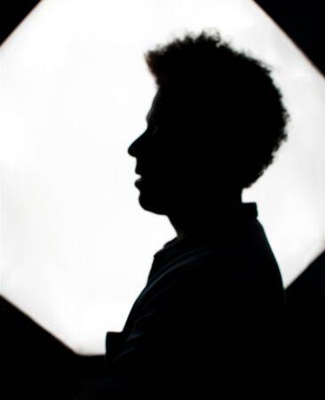Model with dark skin in studio photo session