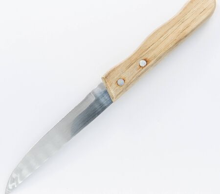 Normal knife with wooden handle that we all have in our houses 写真素材